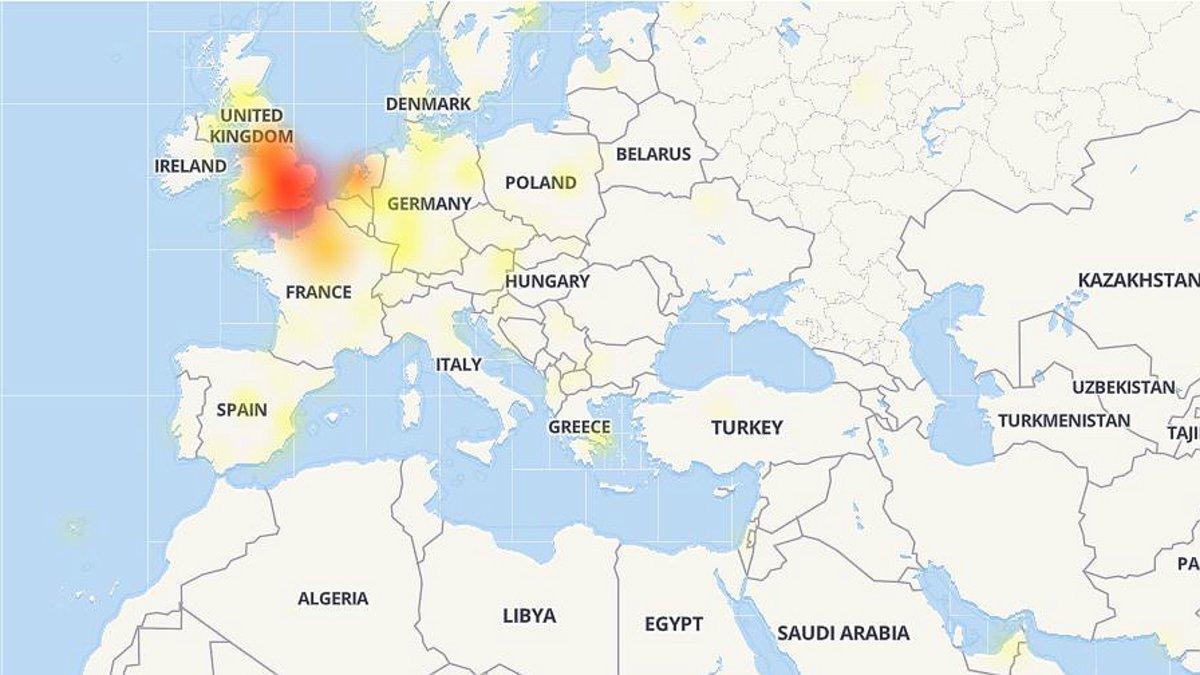 Afectación de Twitter en varios países.