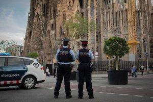 05/06/2019 Dispositivo De Los Mossos D'esquadra En La Sagrada Familia De Barcelona