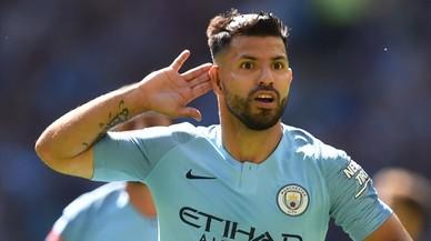 Agüero le da a Guardiola y al City el primer título de la temporada