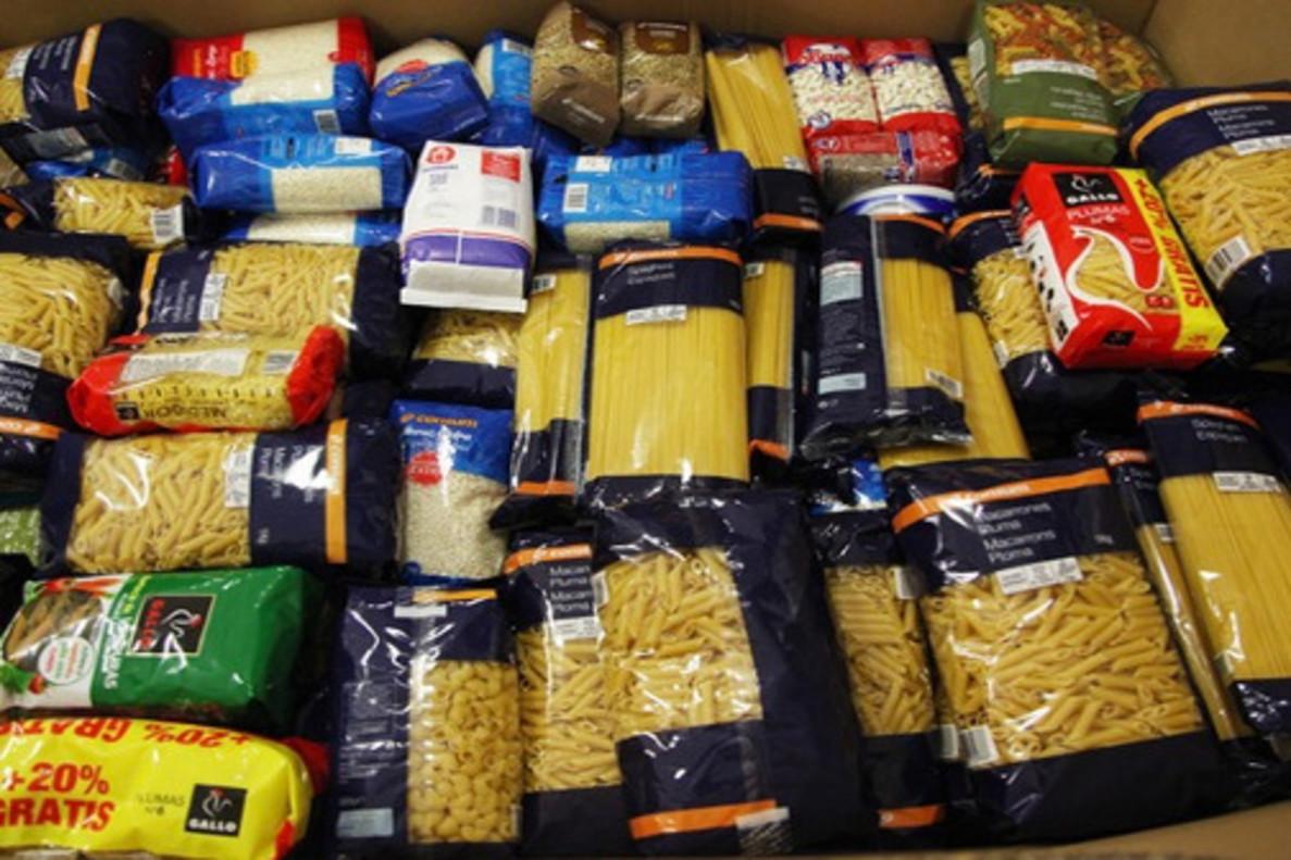 Donaciones del Banco de Alimentos.