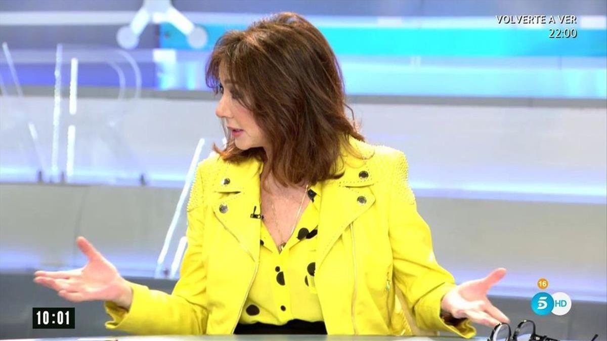 Ana Rosa, en un momento de su magacín en Tele 5.