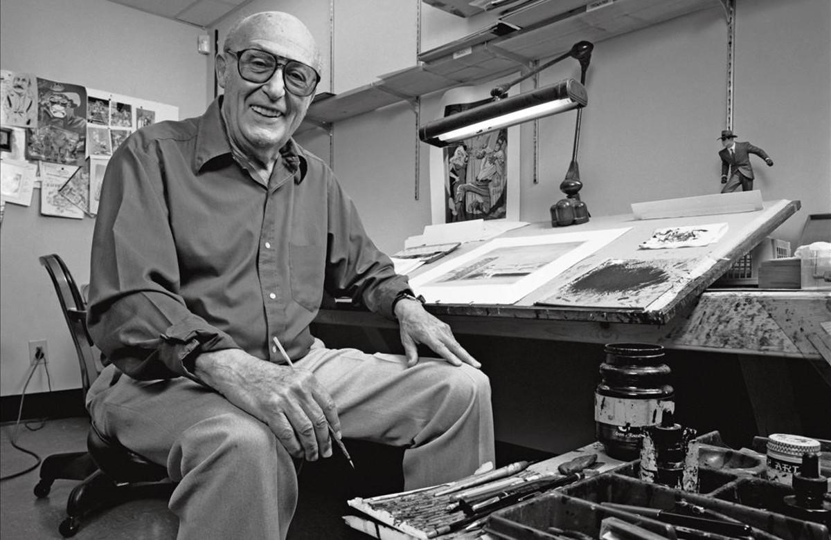 El artista estadounidense Will Eisner, padre de la novela gráfica.