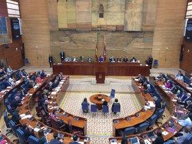 Salón de Plenos de la Asamblea de Madrid.