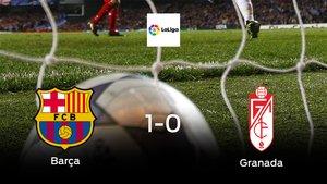 El Barcelona vence 1-0 en su estadio frente al Granada