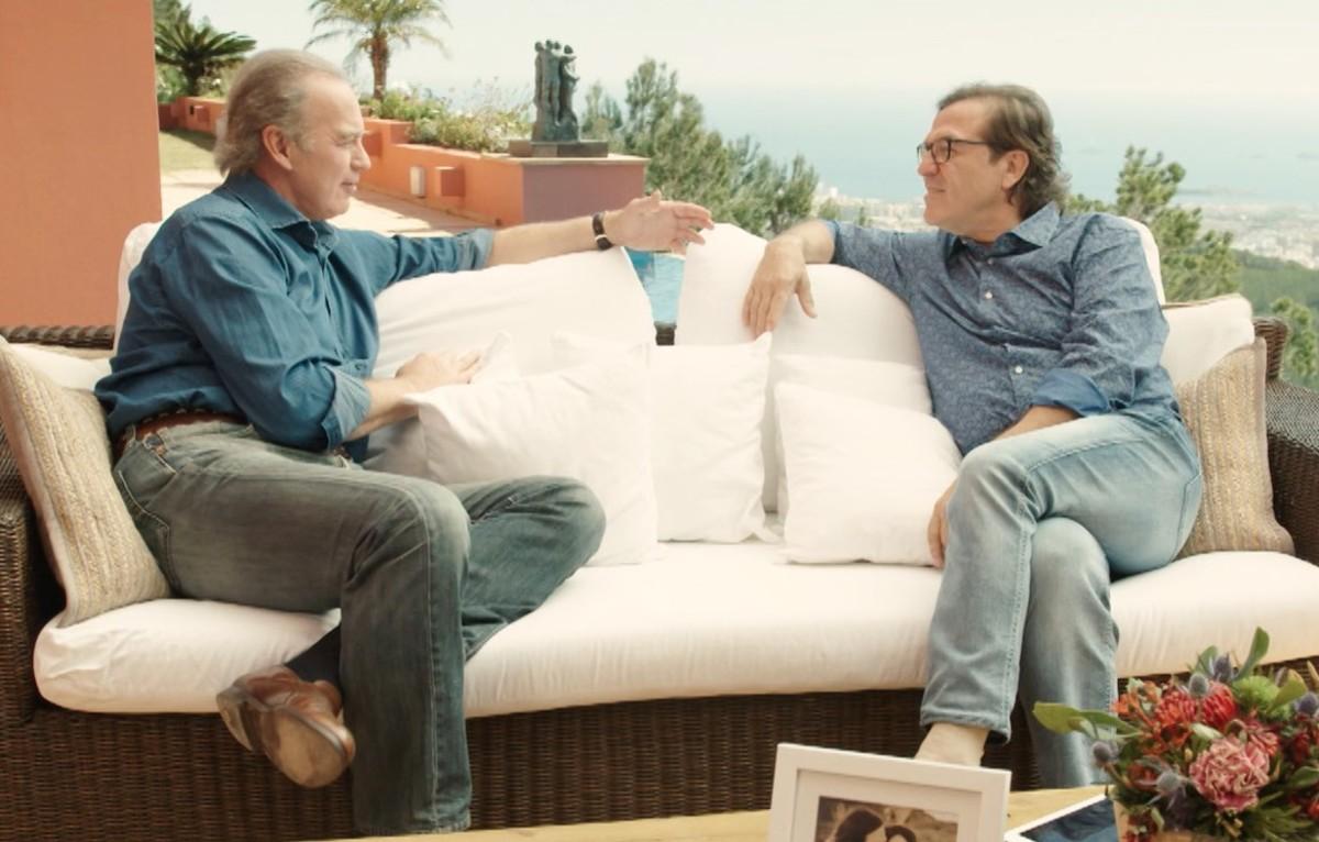 Bertín Osborne, con Pepe Navarro en Mi casa es la tuya.