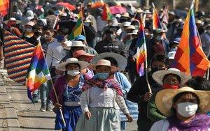 Protestas sociales en Bolivia en plena pandemia de COVID-19.