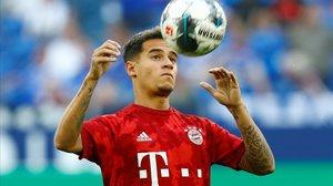 El brasileño Phillippe Coutinho, del Bayern de Munich.