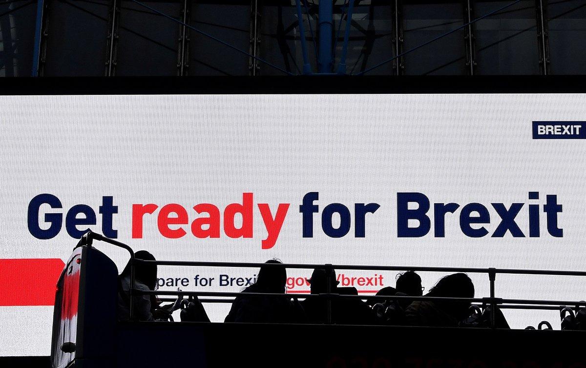 Campaña del Gobierno británico para instar a prepararse para el 'brexit' en Londres el pasado septiembre.
