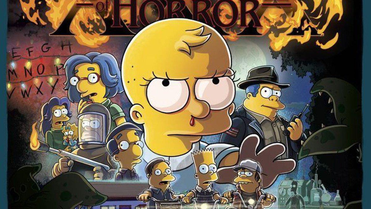 El cartel del capítulo de 'Los Simpson' dedicado a 'Stranger things'.