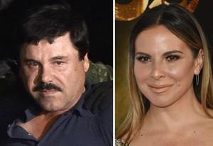El ChapoGuzmán el 8 de enero tras su captura; y la actriz Kate del Castillo durante el festival AFI en 2015 en Hollywood.