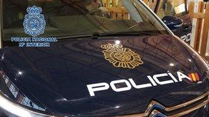 Coche patrulla de la Policía Nacional.