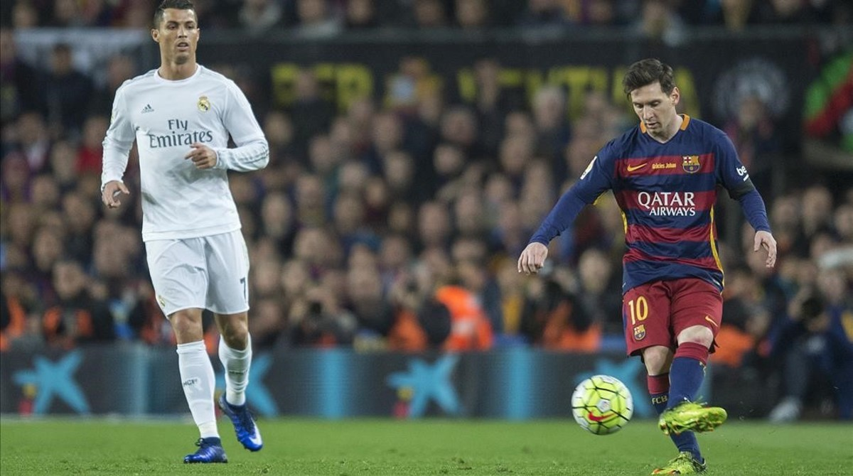 Cristiano y Messi en el Camp Nou.