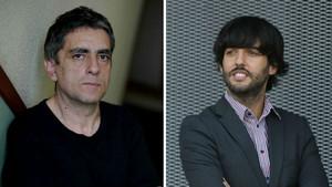 El crítico y profesor Jordi Costa (izquierda) y el guionista Diego San José.