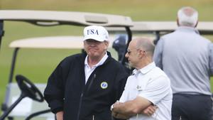 Donald Trump, en el campo de golf de Turnberry, durante su visita a Escocia.