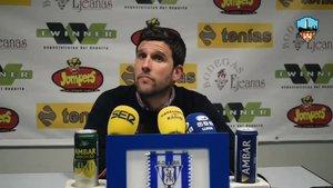 Gerard Albadalejo durante la polémica rueda de prensa.