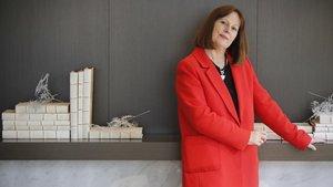La escritora Teresa Driscoll, autora de 'Te veo', en Barcelona.