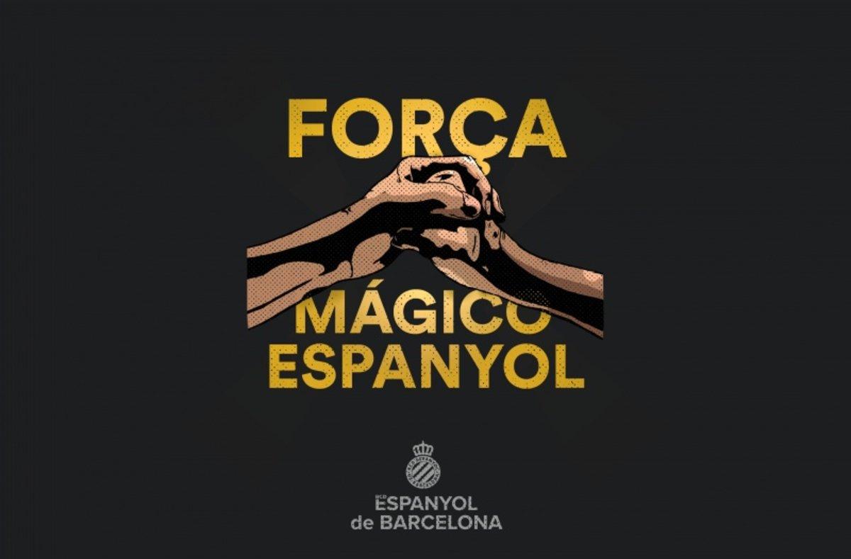 Llegendes de l'Espanyol animen l'afició per sortir del descens
