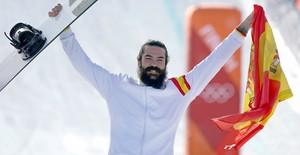 Regino Hernández muestra su felicidad en PyeongChang.