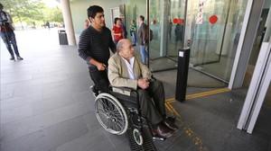 Fèlix Millet, a su llegada al juicio por el 'caso Palau' hace unos días.