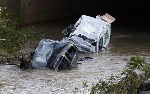 Accidentes provocados por las fuertes lluvias en Francia.