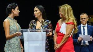 Georgina Rodríguez, India Martínez, Cristina Tárrega y Jordi González en la gala de la I edición de los Premios Mujer de Sesderma.
