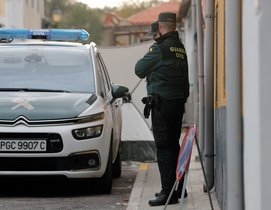 La Guardia Civil durante una dispositivo policial.