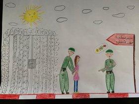 Heba dibujó el momento de su detención cuando tenía 14 años.