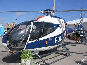 Helicóptero de la Policía Nacional.