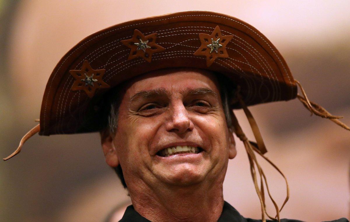 Jair Bolsonaro fotografiado cuando era candidato presidencial en una conferencia de prensa en Rio de Janeiro
