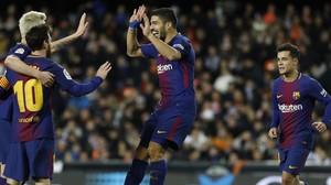 El Barça passa a la final de la Copa del Rei després de guanyar el València (0-2)