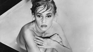 Jeanne Moreau, en 1961, en el rodaje de Eva, de Joseph Losey.