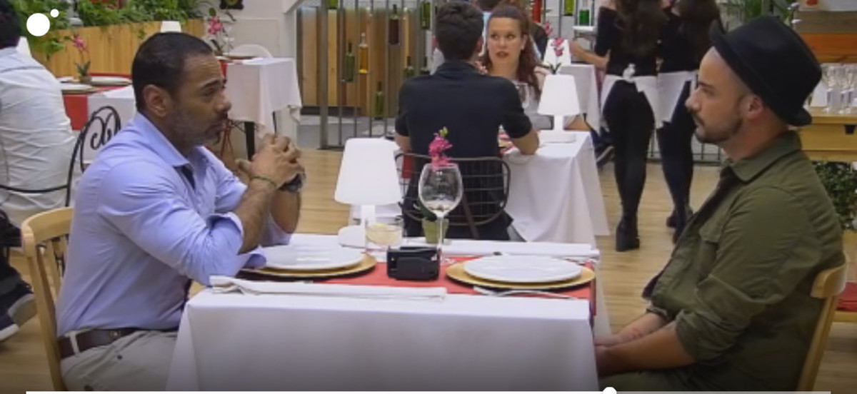 Jeff y Jesús, en su cita en 'First dates'.