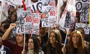 Manifestación contra la LOMCE y las reválidas en Madrid.