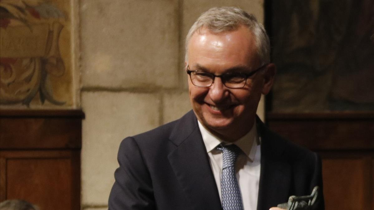 El oncólogo Josep Baselga, en la ceremonia de entrega del Premio Catalunya.