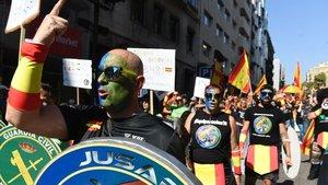 Manifestación de Jusapol, el pasado 29 de septiembre en Barcelona.