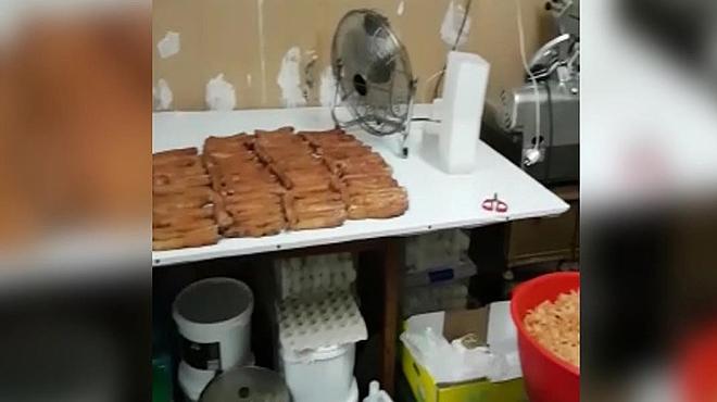 Manipulación ilegal de alimentos para su venta a restaurantes en Santa Coloma de Gramanet.