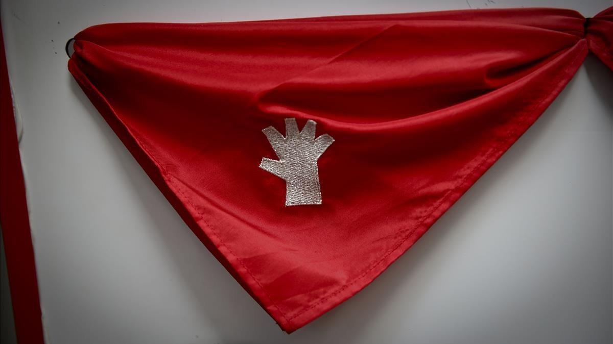 La mano, símbolo contra las agresiones sexuales en los Sanfermines.