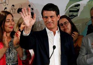Manuel Valls valora los resultados de las elecciones del 26-M.
