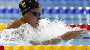 Marina García, en su semifinal de los 200 braza.