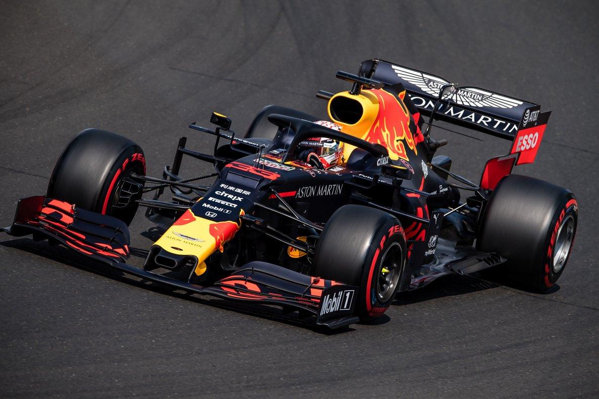 Max Verstappen, en acción.