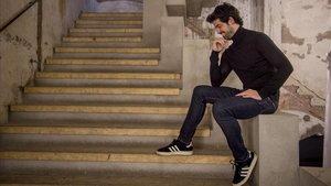 El actor Miguel Ángel Muñoz fotografiado tras la grabación de un espot publicitario en Barcelona