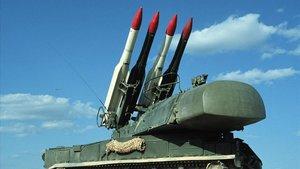 Misiles Tor-M1 como los que lanzó el régimen iraní contra el avión ucraniano.
