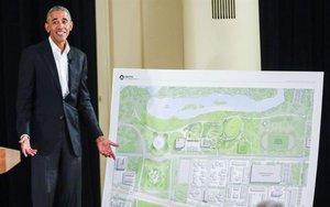 Planos del Centro Presidencial Obama en Chicago.