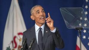 Obama, el pasado viernes en la Universidad de Ilinois.