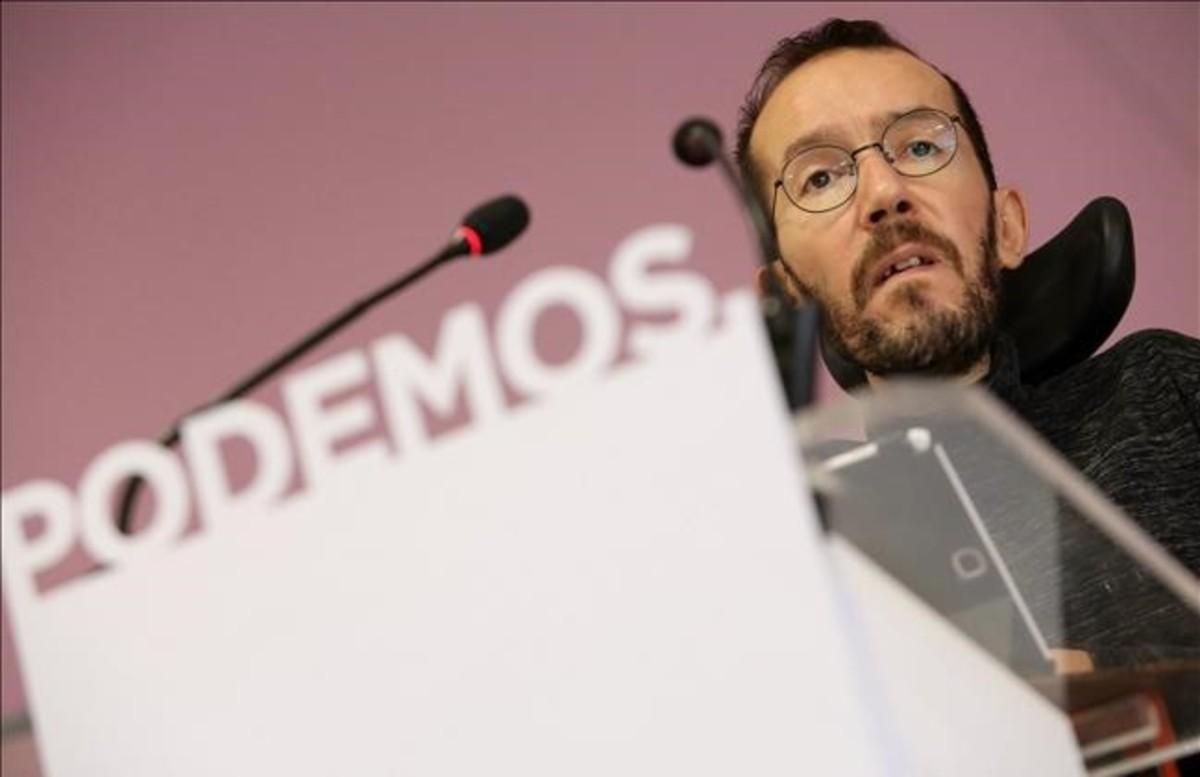 La Administración quiere multar a Echenique con hasta 25.000 euros por tener a su asistente sin contrato