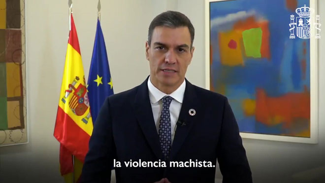 Pedro Sánchez llama a cerrar las grietas de la violencia machista.
