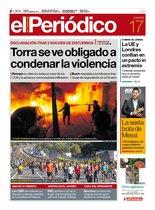 La portada de EL PERIÓDICO del 17 de octubre del 2019