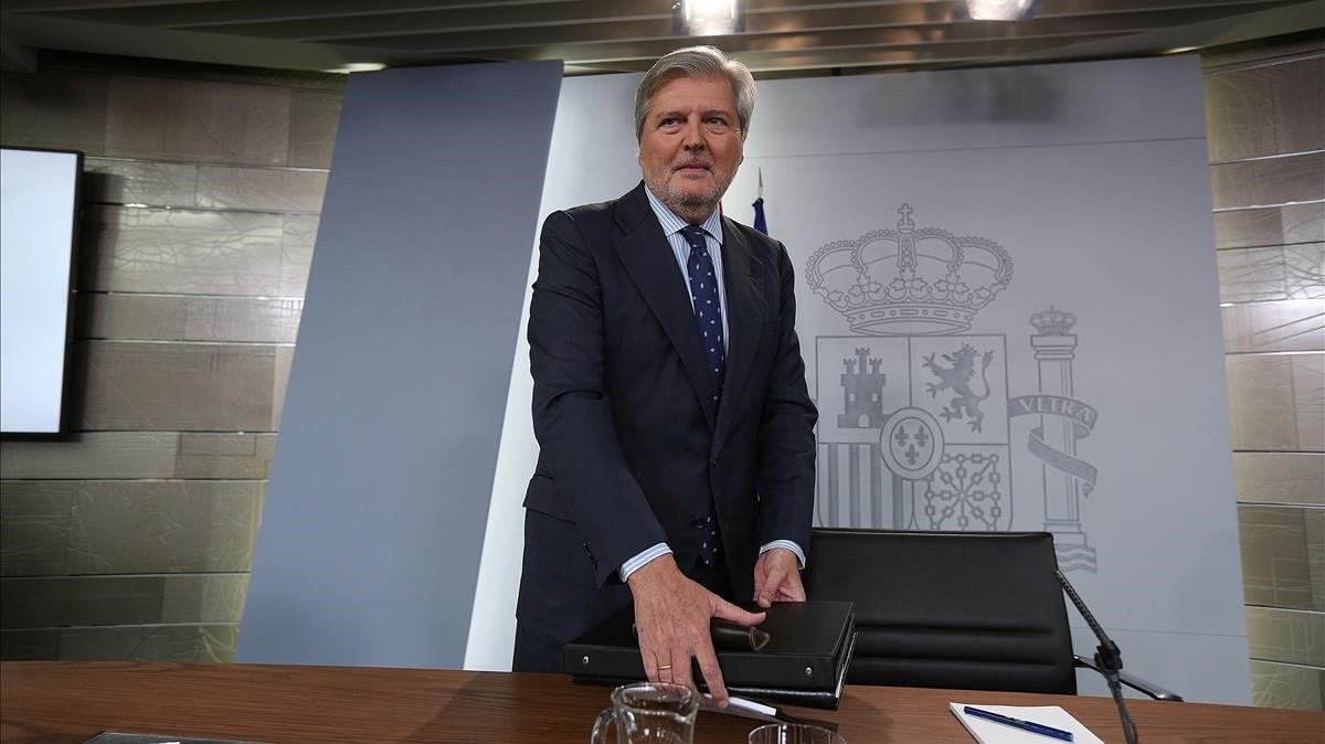 El portavoz del Gobierno, Íñigo Méndez de Vigo, tras la reunión del consejo de ministros.