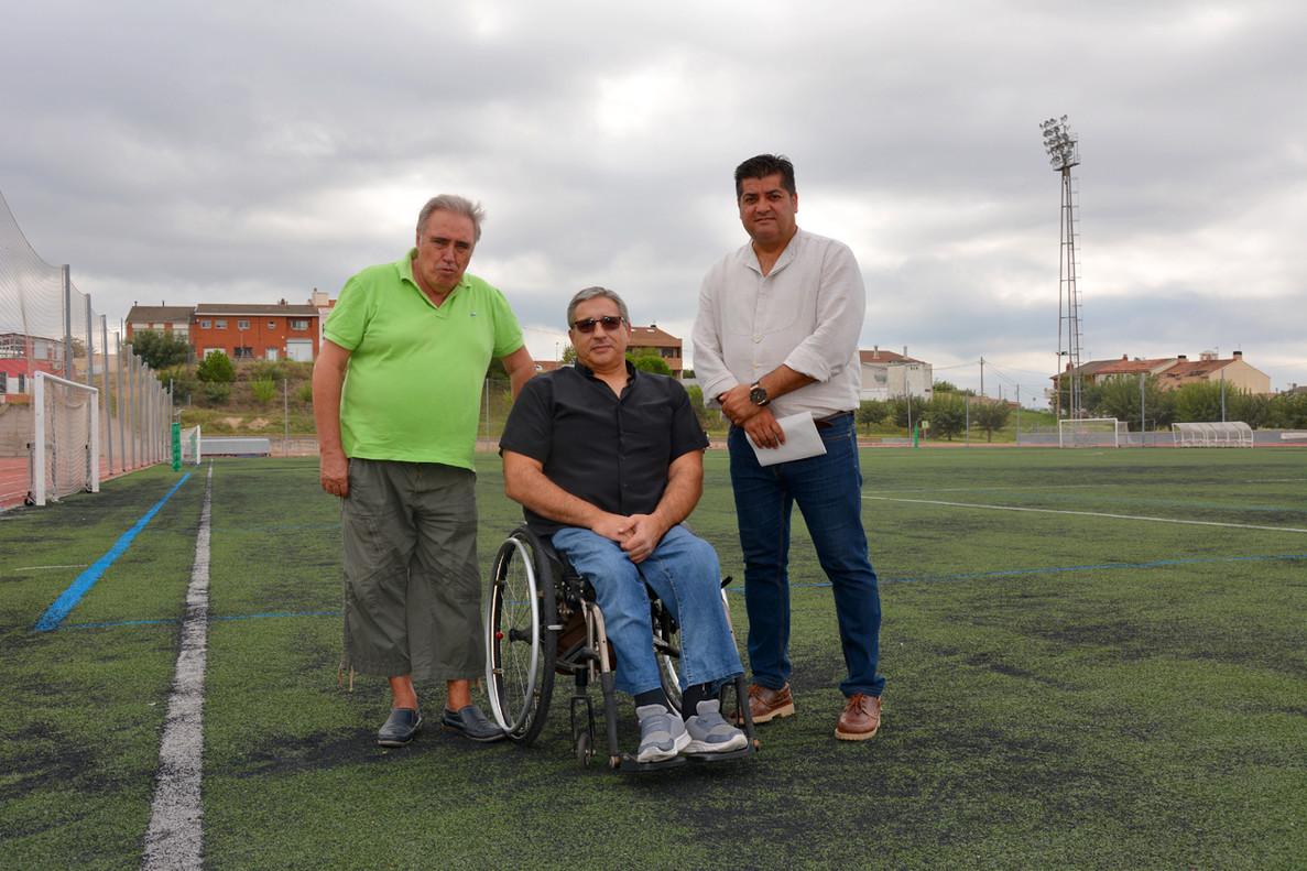 El presidente de la ACEA, el presidente de Horitzó y el concejal de Deportes de Rubí