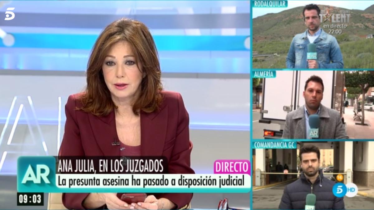 El programa de Ana Rosa informa sobre el caso de Gabriel Cruz.